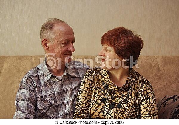 elderly couple - csp3702886