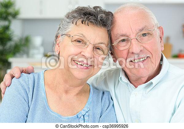 elderly couple - csp36995926