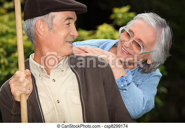 Elderly couple - csp8299174