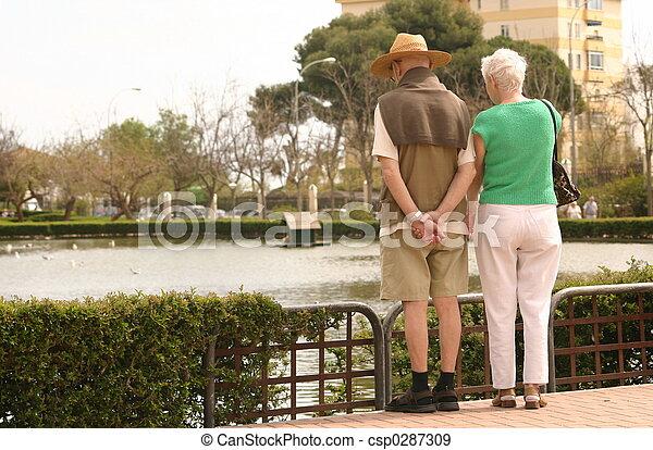 elderly couple - csp0287309