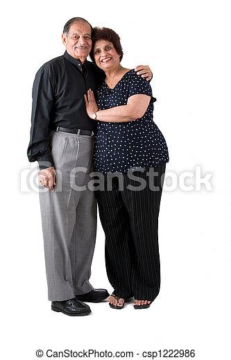 Elderly East Indian Couple - csp1222986