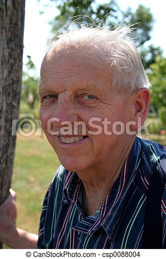 elderly gentleman - csp0088004