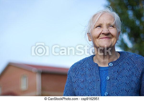 Elderly happy woman - csp9162951