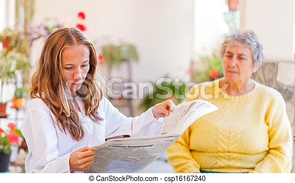 Elderly home care - csp16167240