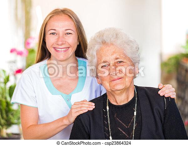 Elderly home care - csp23864324