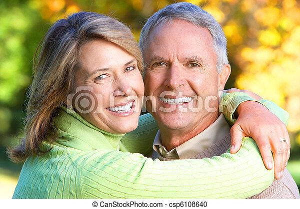 elderly seniors couple  - csp6108640
