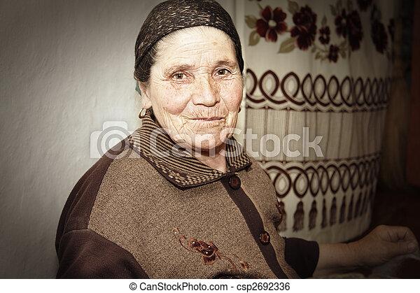 Elderly woman at work - csp2692336
