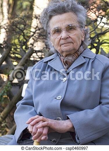 elderly woman - csp0460997