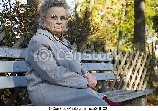elderly woman - csp0461021