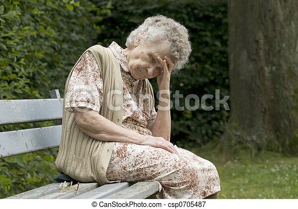 elderly woman - csp0705487