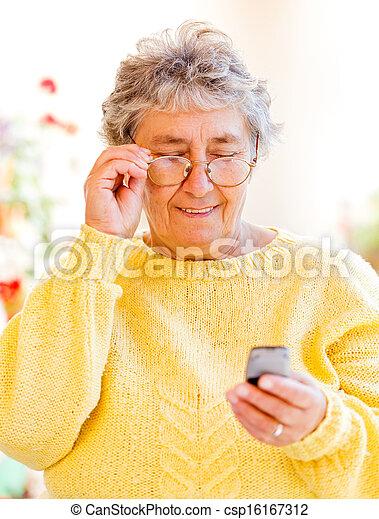 Elderly woman - csp16167312