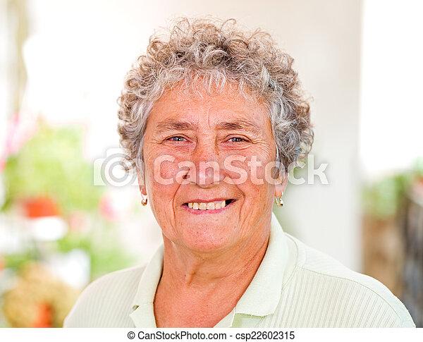 Elderly woman - csp22602315