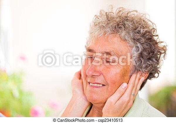 Elderly woman - csp23410513