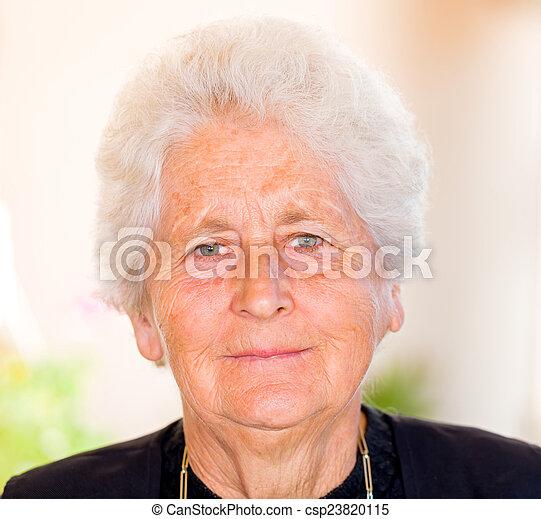 Elderly woman - csp23820115