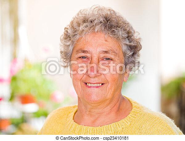 Elderly woman - csp23410181