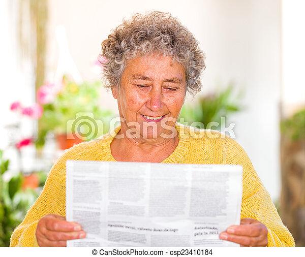 Elderly woman - csp23410184