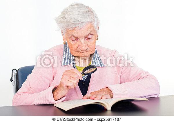 Elderly woman - csp25617187