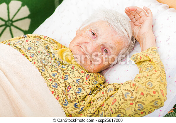 Elderly woman - csp25617280