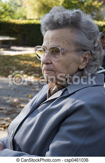 elderly woman - csp0461036