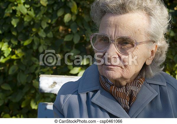 elderly woman - csp0461066