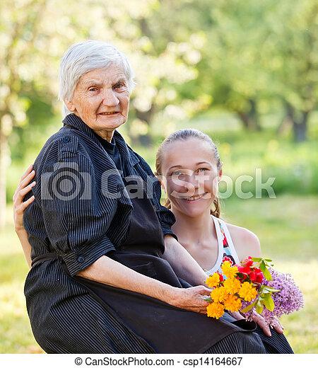Elderly woman - csp14164667