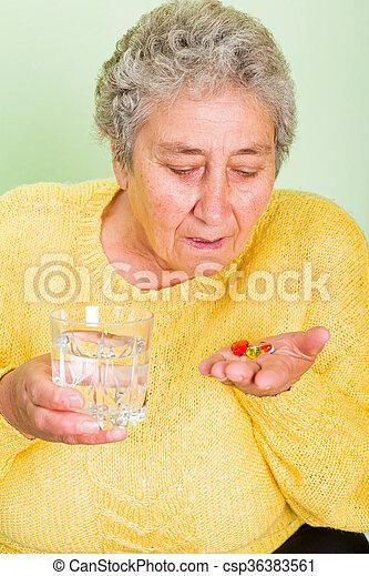 Elderly woman - csp36383561