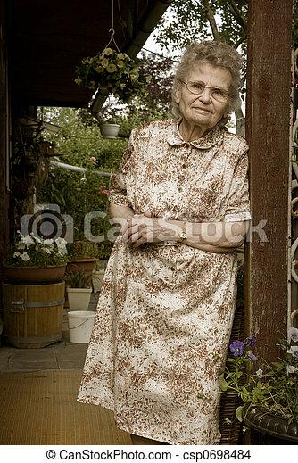 elderly woman - csp0698484