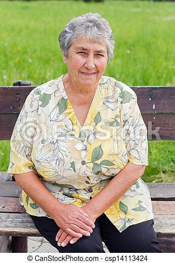 Elderly woman - csp14113424