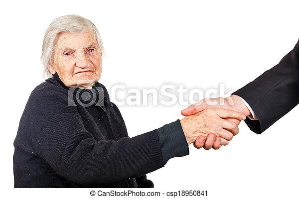 Elderly woman - csp18950841