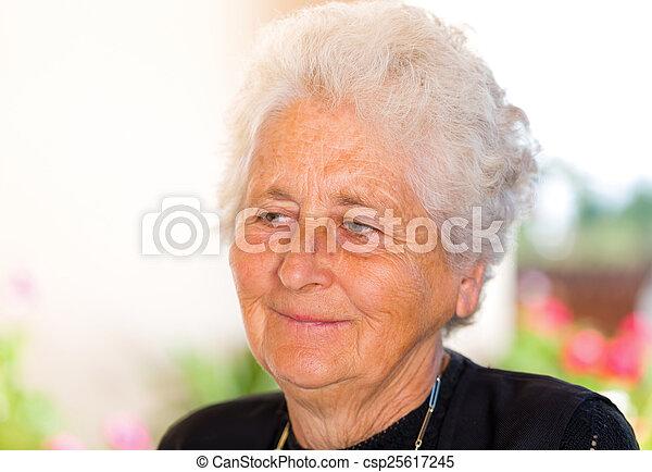 Elderly woman - csp25617245