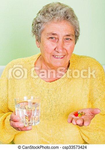 Elderly woman - csp33573424