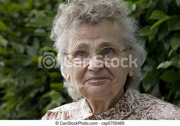elderly woman - csp0705469