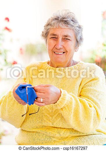 Elderly woman - csp16167297