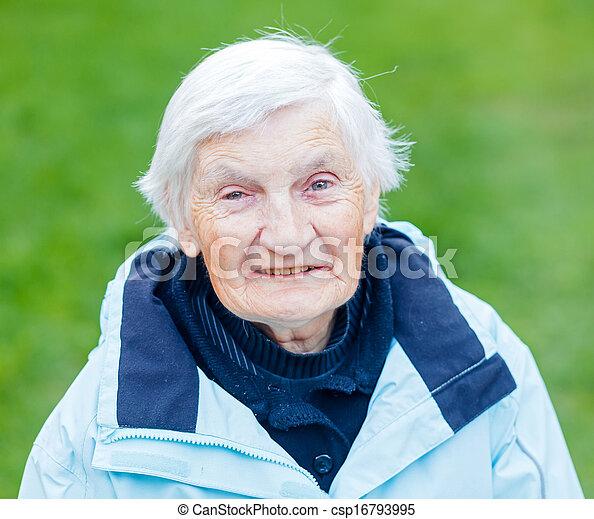 Elderly woman - csp16793995