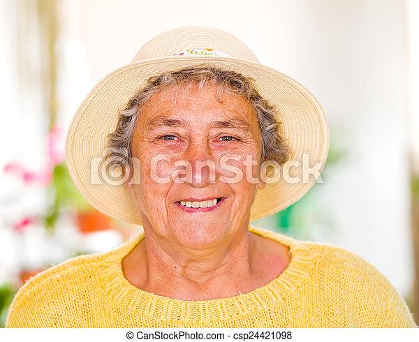 Elderly woman - csp24421098