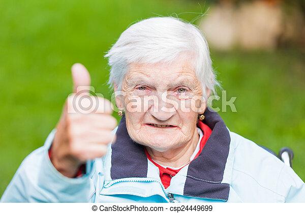 Elderly woman - csp24449699