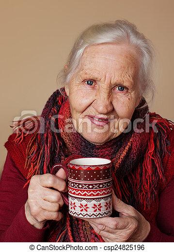 Elderly woman - csp24825196