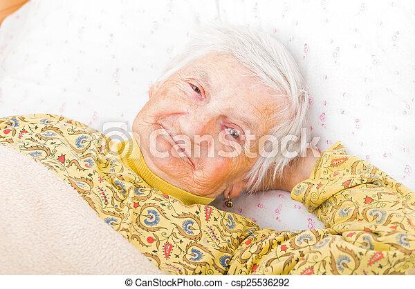 Elderly woman - csp25536292