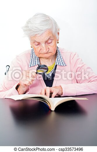Elderly woman - csp33573496