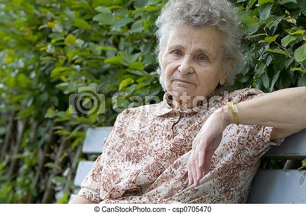elderly woman - csp0705470