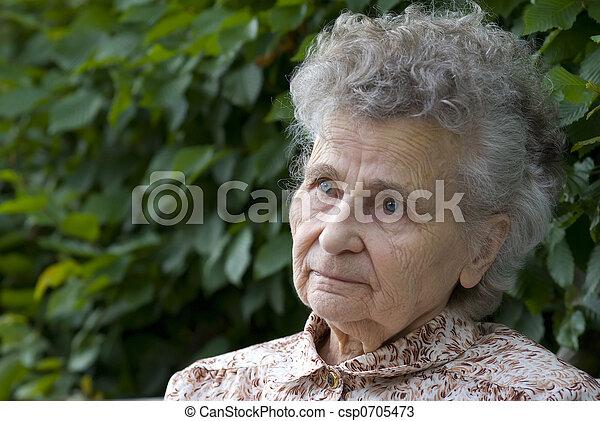 elderly woman - csp0705473