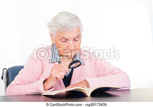 Elderly woman - csp26173639
