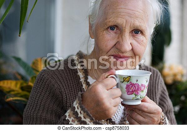 Elderly woman - csp8758033