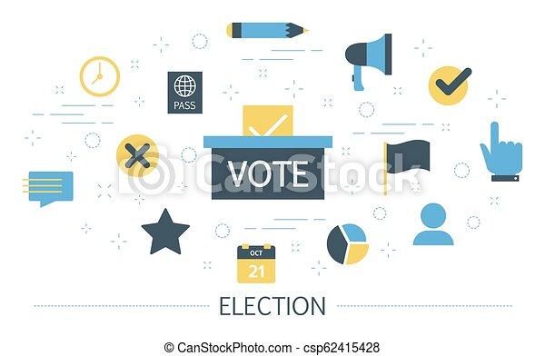 Campaña electoral. La gente vota por el candidato - csp62415428