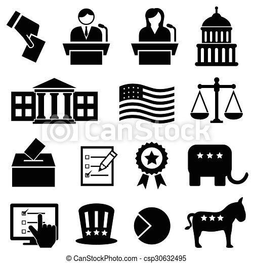 Election And Voting Icons Election And Voting Icon Set Eps Vectors
