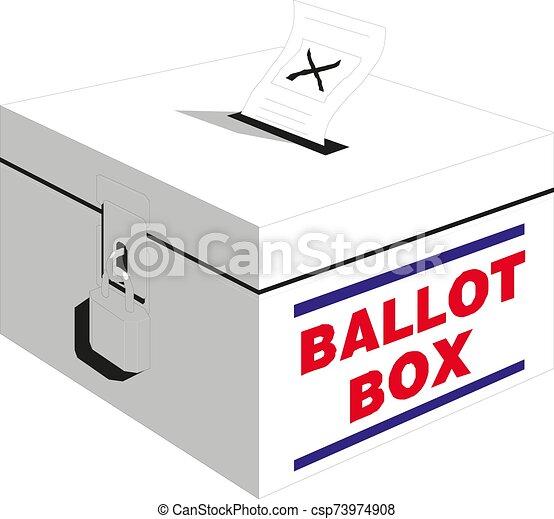Election box - ballot box. Vector illustration eps 10 - csp73974908