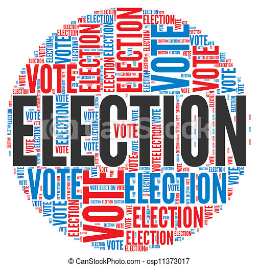 election concept election and vote concept in word tag cloud on rh canstockphoto com Election of Officers Clip Art election clipart free