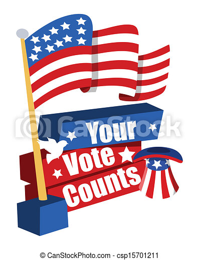 election day banner with usa flag your vote counts vector clip rh canstockphoto com election day clip art free election day clipart