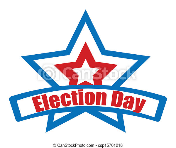 election day star banner election day star retro banner vector rh canstockphoto co uk election day clip art free election day 2017 clipart