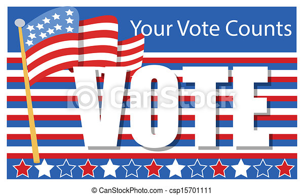 election day voting banner patriotic election day vector rh canstockphoto com Veterans Day Clip Art Veterans Day Clip Art